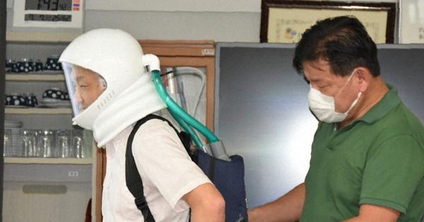 mainichi.jp - 「宇宙服」型マスクでウイルス遮断 気圧で侵入防ぐ 群馬大グループ