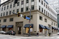 This May 6, 2020, file photo shows a Brooks Brothers store in Pittsburgh. (AP Photo/Gene J. Puskar)