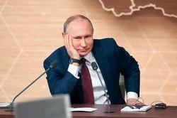 隣国との国境策定は「例外」と加えたが……(プーチン大統領) (Bloomberg)