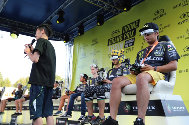 昨年のドローン・チャンピオンズ・リーグのイタリア・トリノでのレースで、ライデンの選手 DRONE SPORTS提供
