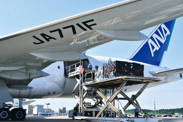 国際線の回復がままならない中、貨物臨時便の運航が相次ぐ 筆者撮影
