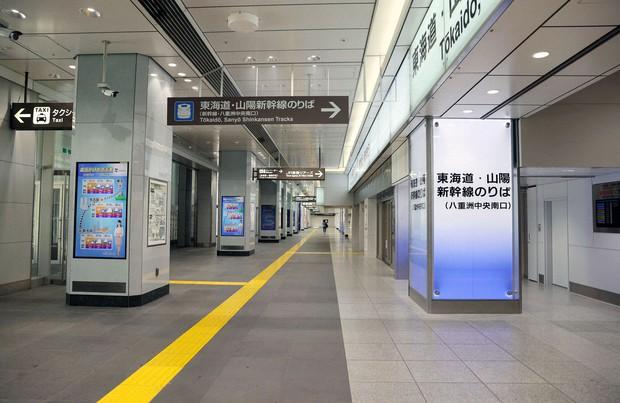 利用客が少なく閑散としたJR東京駅・八重洲口(2020年4月)