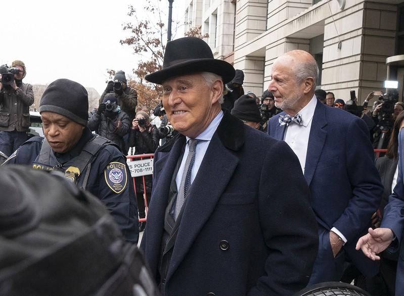 いったんは有罪となったストーン氏だが(今年2月)(Bloomberg)