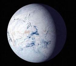 全球凍結のイメージ図 NASA