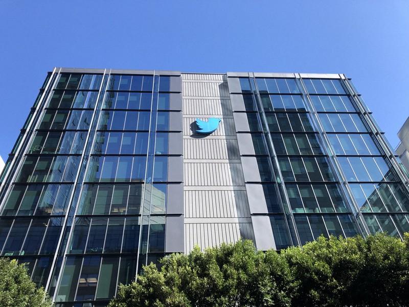 ハッキングを受けた米ツイッター本社=米サンフランシスコで2020年2月、中井正裕撮影