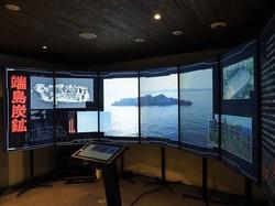 産業遺産情報センターの展示=同センター提供