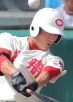 2019年夏の甲子園では本塁打を放つ活躍を見せた細川凌平=阪神甲子園球場で2019年8月13日、玉城達郎撮影
