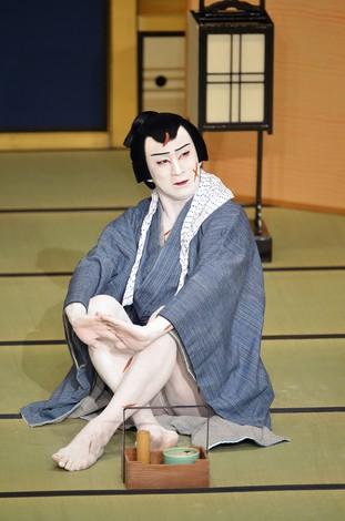 松本幸四郎演じる切られ与三郎 歌舞伎座提供