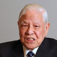 取材に応じる台湾の李登輝元総統=東京都千代田区の衆議院第1議員会館で2015年7月22日、中村琢磨撮影