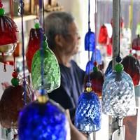 出荷の最盛期を迎えた色とりどりの「河内風鈴」=大阪府交野市で、藤井達也撮影