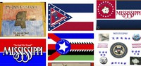 Magnolias, stars, a Gulf Coast lighthouse, a teddy bear, and even Kermit the Frog appear on some of the over 1,800 proposals submitted by the general public for a new Mississippi flag and posted Monday, Aug. 3, 2020, on the Mississippi Department of Archives and History web site. (Mississippi Department of Archives and History, via AP)
