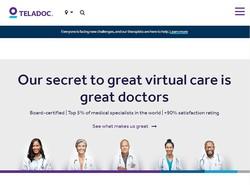 年中無休でいつでも受診可能 テラドック・ヘルス社のホームページより