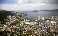 This Sept. 20, 2013 file photo shows an aerial view of the Pacific resort city of Acapulco, Mexico. (AP Photo/Eduardo Verdugo)