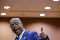 In this Wednesday, June 17, 2020, file photo, Fulton County District Attorney Paul Howard speaks at a news conference, in Atlanta. Howard has run unopposed for two decades.(AP Photo/Brynn Anderson, File)