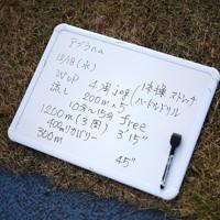 グエム・アブラハム選手のある日の練習メニュー=前橋市で2019年12月18日、久保玲撮影