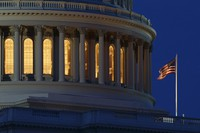 In this July 16, 2019 file photo, an American flag flies on the Capitol Dome in Washington. (AP Photo/Carolyn Kaster)