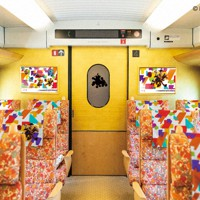 ピクサーのキャラクターをデザインした九州新幹線の内装イメージ=JR九州提供