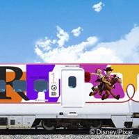 ピクサーのキャラクターをデザインした九州新幹線の外観イメージ=JR九州提供