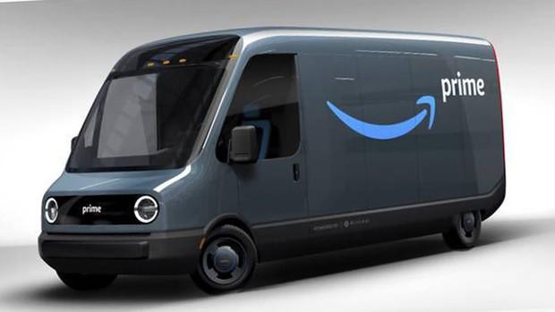 アマゾンが10万台を注文したリビアンのEVデリバリーバンのプロトタイプ(リビアン提供)