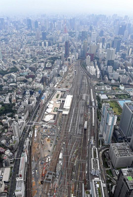 高輪ゲートウェイ駅西側の「品川開発プロジェクト(第1期)」の予定地