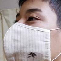 「奇跡の一本松」を使ったマスク=日本コカリナ協会提供