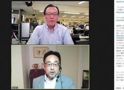 藻谷浩介さん(下)と斉藤信宏・毎日新聞編集編成局次長