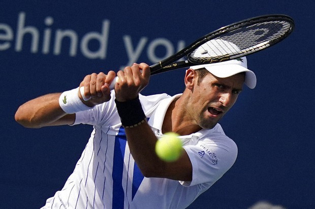 Tennis Djokovic S Neck Better As Is His Play Now 20 0 In 2020 The Mainichi