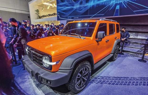中国大手、長城汽車は新型SUVを投入 筆者撮影