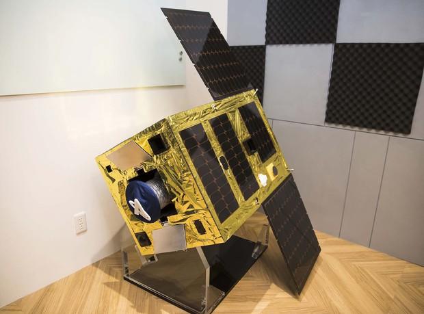 アストロスケールが開発中の実証衛星「ELSAid」 (Bloomberg)