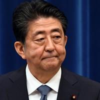 記者会見で辞任を表明する安倍晋三首相=首相官邸で2020年8月28日午後5時21分、竹内幹撮影