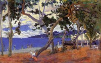 """""""Coastal Landscape from Martinique"""" by Paul Gauguin (1887)"""