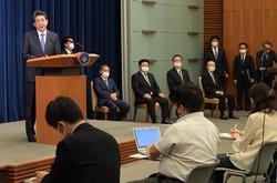 記者会見する安倍晋三首相=首相官邸で2020年8月28日、竹内幹撮影