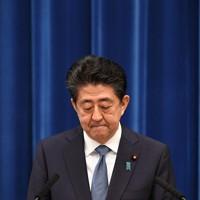 記者会見で辞意を表明する安倍晋三首相=首相官邸で2020年8月28日午後5時1分、竹内幹撮影