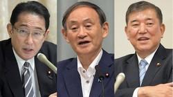 左から岸田文雄氏、菅義偉氏、石破茂氏