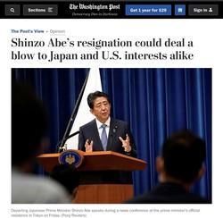 安倍首相とランプ大統領との良好な関係を報じた米『ワシントン・ポスト』紙の社説(同社サイトより)