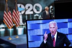 米テスラ株江東の背景には、民主党バイデン氏の米大統領選に絡む期待があるとされる(Bloomberg)