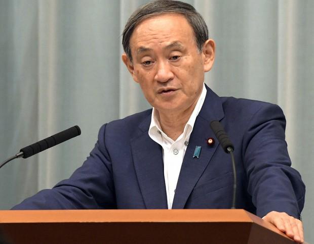 記者会見する菅義偉官房長官=首相官邸で2020年9月3日午前11時半、竹内幹撮影