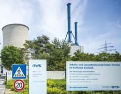 電力大手RWEは石炭や褐炭による発電を縮小(同社の天然ガス発電施設) (Bloomberg)