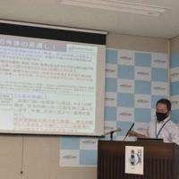 台風10号への警戒を呼び掛ける佐賀地方気象台の予報官