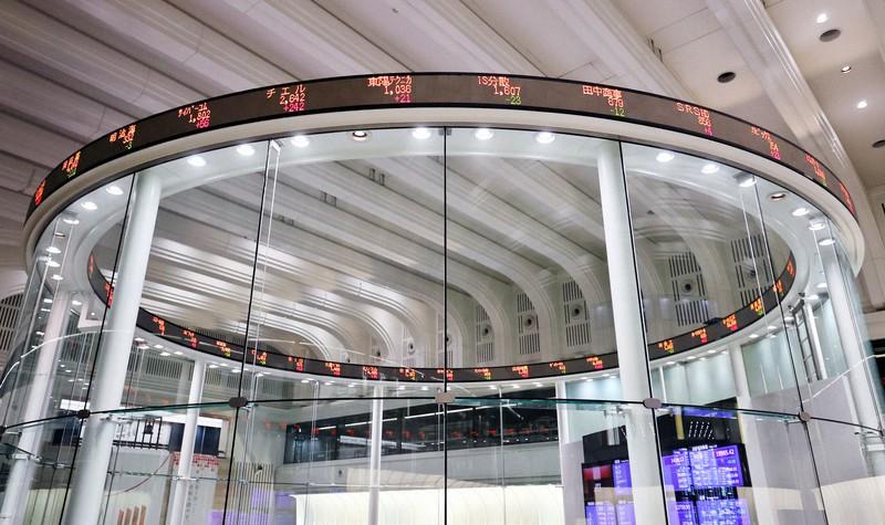 東京証券取引所=2020年5月7日、幾島健太郎撮影