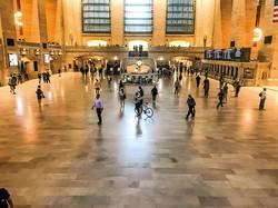 マンハッタンにあるターミナル駅「グランド・セントラル」も人はまばらだ 筆者撮影
