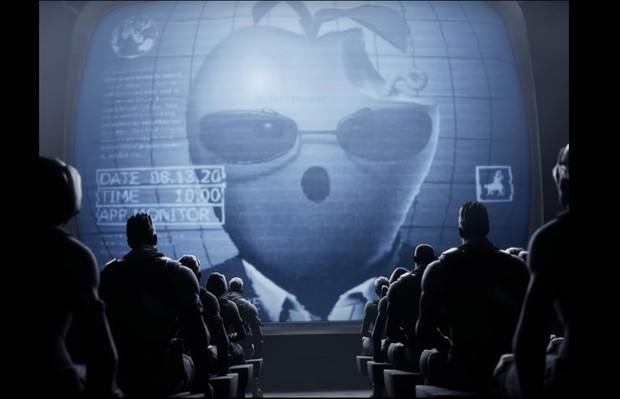 エピックが公開した『1984』のパロディ動画(YouTubeより)