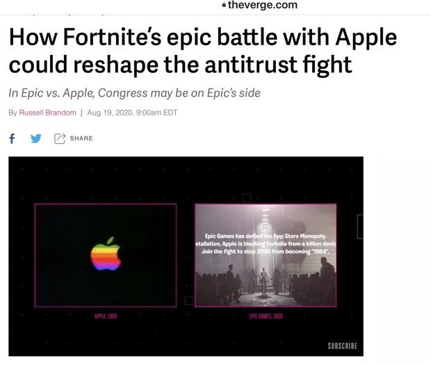 「エピックゲームズがアップルに挑んだ戦いが独禁法のあり方を変える可能性」を論ずる『ザ・バージ』の記事