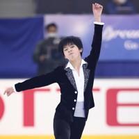フィギュアスケート「ドリーム・オン・アイス」でフリーを披露する森本涼雅=横浜市のコーセー新横浜スケートセンターで2020年9月13日(代表撮影)