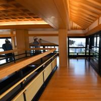 報道陣に公開された熊本城大天守の内部。6階からは熊本市内が一望出来る=熊本市中央区で2020年9月14日午前11時55分、矢頭智剛撮影