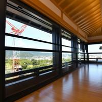報道陣に公開された熊本城大天守の内部。6階からは熊本市内が一望出来る=熊本市中央区で2020年9月14日午後0時2分、矢頭智剛撮影
