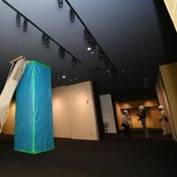 報道陣に公開された熊本城大天守の内部=熊本市中央区で2020年9月14日午後0時26分、矢頭智剛撮影