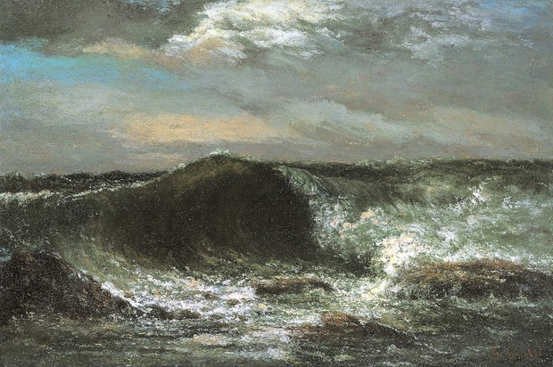 ギュスターヴ・クールベ 《波》 1869年 愛媛県美術館蔵