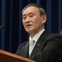 就任後、初の記者会見をする菅義偉首相=首相官邸で2020年9月16日午後9時9分、竹内幹撮影