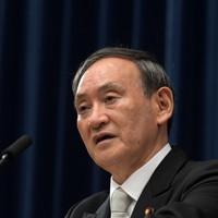就任後、初の記者会見をする菅義偉首相=首相官邸で2020年9月16日午後9時19分、竹内幹撮影